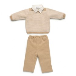 PILI CARRERA Cream and Camel Three Piece Shirt, Top and Pants Set in BABIES OUTFITS | Madison Browne.jpg