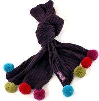 Pom pom alpaca scarf from Peruvian Knitwear
