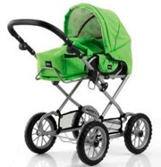 BRIO Green Combi Doll's Pram