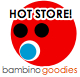 hot store logo for bambino goodies