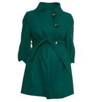 topshop maternity belted coat