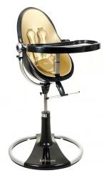 black and gold fresco loft highchair by bloom