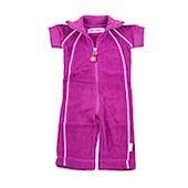 Kik Kid Short Sleeved Terry Jumpsuit in Purple