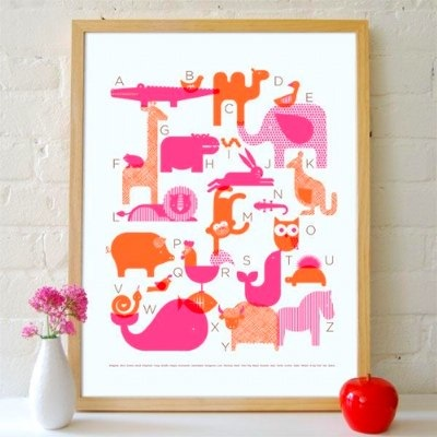 Animal Alphabet Poster by Petit Collage