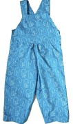 snoozy blue elephant dungarees