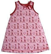 snoozy pink giraffe dress