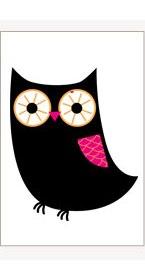 chalkboard owl