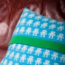 Lambswool Robot Cushion by Sara Carr