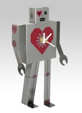 WhippetGrey grey  Robot clock