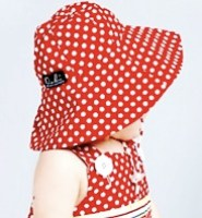 Bridgette Hat - red Dots by oobi baby