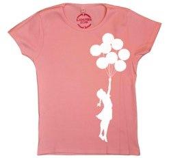 banksy balloons t-shirt