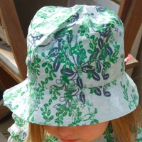 floral sunhat by kik kid