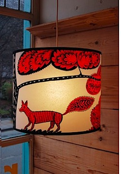 Red Foxy Lampshade by Lush Designs