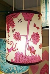 Small pink Monkey shade by Lush Designs