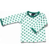 ej sikke lej long sleeved white and dark green nutty print t-shirt