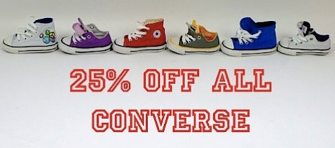25% off all Converse