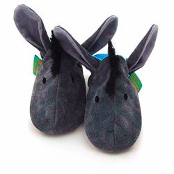 Donkey slippers by funky feet fashions