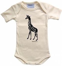 Organic africa giraffe natural baby bodysuit