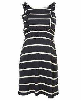 Maternity Stripe Frill Dress Topshop