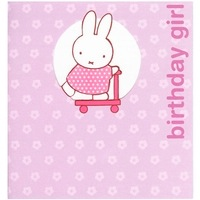 <br /> Miffy Birthday Girl Greeting Card
