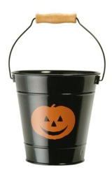 Enamel Halloween Treat Bucket - Black