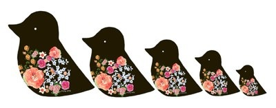 Clare Nicolson's Dolly Birds in black