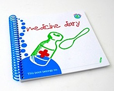 Wipe-able Medicine Diary by Maxie and Teddy