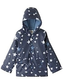 Hatley Star Print Mac, Navy by john lewis