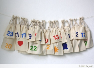 advent calendar with bags
