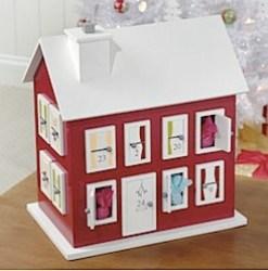 New England Style advent calendar house