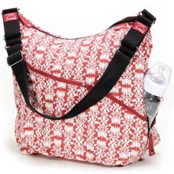 morrocon print babymel changing bag red