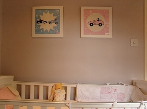 wall art and cot view