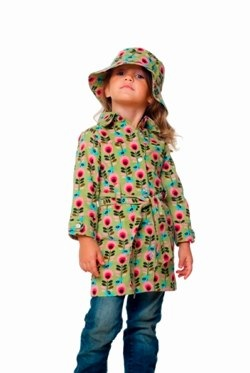aunty ollie stem print coat and hat
