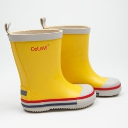 yellow celavi wellies