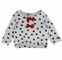 Topshop Mini Spot Bow Jumper