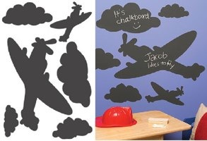 Planes and Clouds Large Chalkboard Sticker