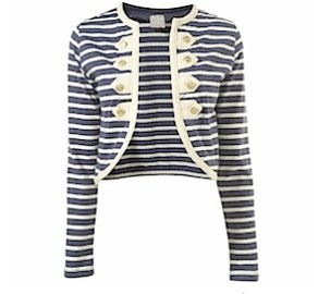 Topshop Maternity Stripe Button Jacket