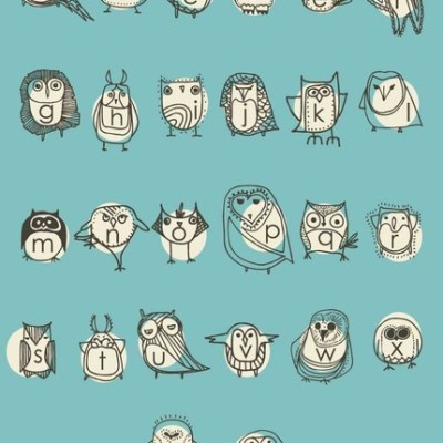 Owl Alphabet Poster by Gingiber