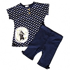 Dotty Bear Set |Top+Trousers|Navy