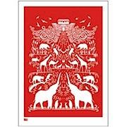 Ark Eco Print - Poppy Red