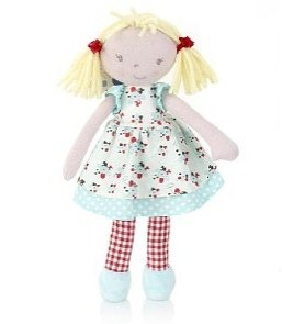 Small Rag Doll Marks & Spencer yellow hair