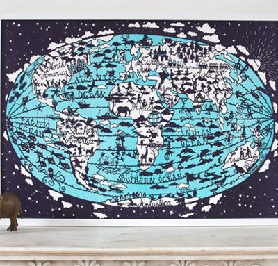 World Map Print from Famille Summerbelle