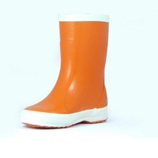 Bergstein Orange Rubber Wellie Boots from Liquorice Laces
