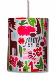 red funky zoo lampshade
