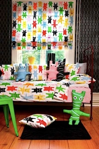Mairo Monster Fabric blind