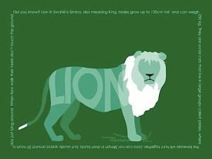 zoe cloke lion print copyright