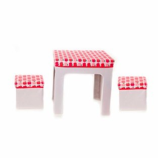 red apple table and 2 chairs