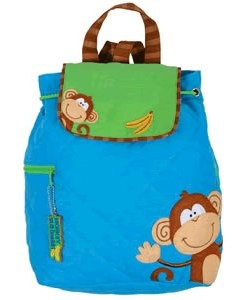 monkey quilted backpack by stephen joseph