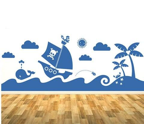 Spin Collective UK - Sea Mural Sticker Set