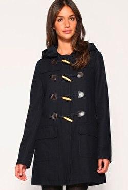 ASOS Wool Hooded Duffle Coat